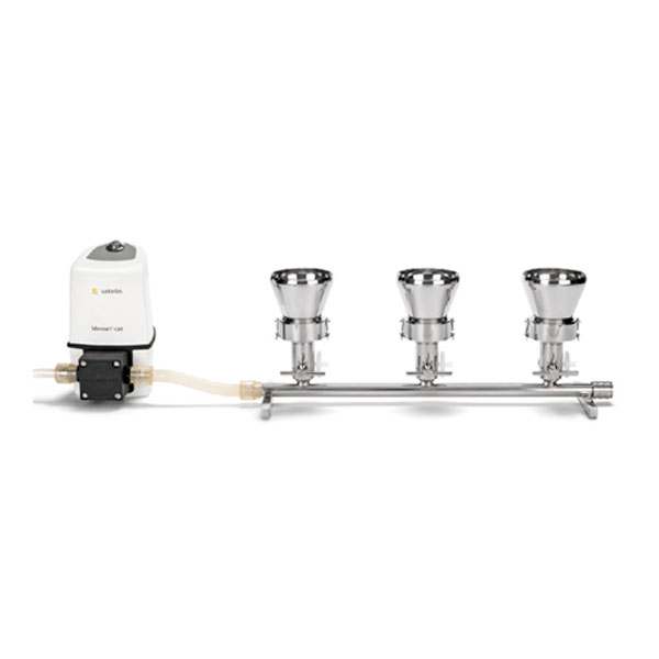 Bộ lọc vi sinh 6 nhánh bằng thép không gỉ cho màng lọc 47/50mm bao gồm phễu inox 100ml