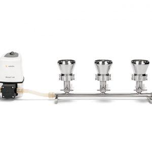 Bộ lọc vi sinh 1 nhánh bằng thép không gỉ cho màng lọc 47/50mm bao gồm phễu inox 100ml
