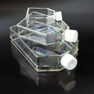 Chai nhựa nuôi tế bào, tiệt trùng, chưa được xử lý, PS, 270 ml, 5 cái/ gói – Mã: 20075
