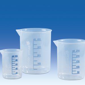 Cốc nhựa trong PP vạch xanh 100ml – Mã: 608081
