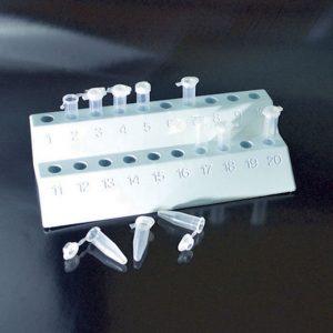 Giá đỡ ống ly tâm, 2 tầng , PP, 20 tuýp 1.5 và 2 ml – Mã: 10490