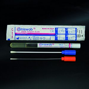 AMIES in Ø12×150 mm sterile tubes with plastic stick – 150 pcs/pack – Mã: 301/SG