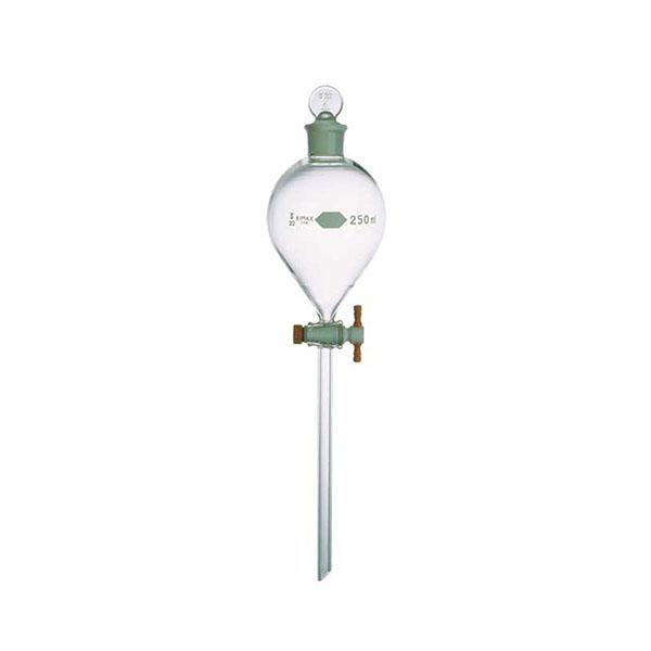 Phễu quả lê thân dài 125ml, nắp PTFE – Mã:29043F-125
