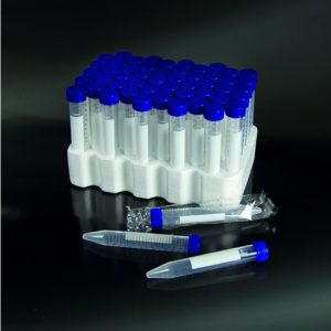 Tuýp ly tâm có nhãn đáy nhọn 15ml tiệt trùng, PP, nắp vặn, Ø 17×120 mm, 1 cái/ gói – Mã: 50352/SG/CS