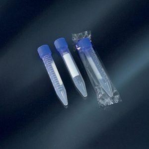 Tuýp ly tâm có nhãn đáy nhọn 10ml tiệt trùng, PP, nắp vặn, Ø 16×100 mm, 1 cái/ gói – Mã: 50353/SG/CS